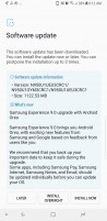 Unlocked US Galaxy Note8 Android Oreo update changelog