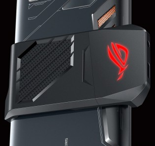 The AeroActive cooler for the Asus ROG phone
