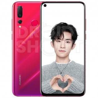 Huawei nova 4 in red/purple and black