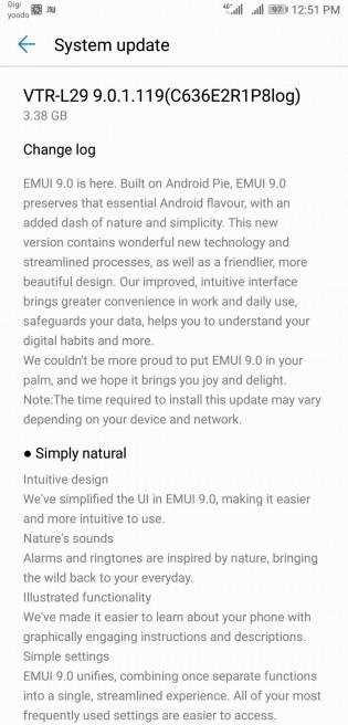 Full change log of the update
