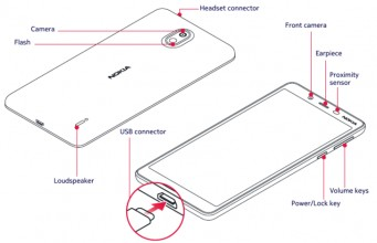 Detailed Nokia 1 Plus schematic from the user manual