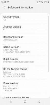 Samsung Galaxy J6 também ganha Android 9.0 Pie 2