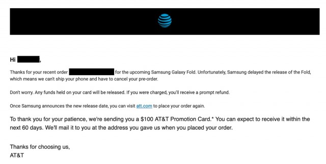AT&T refund email