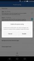 Ultra power save mode only lets you access the dialer, SMS, and contacts - Huawei Honor 5x review