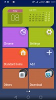 pantalla de inicio sencilla con una interfaz de azulejos - Huawei P9 opinión Lite