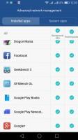 Gerente qué aplicaciones puede conectarse a Internet y cómo - Huawei P9 opinión Lite