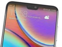 Top bezel - Huawei P20 Pro review