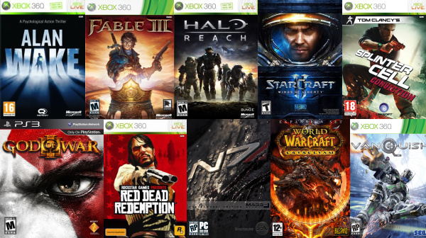 The Top 10 video games in 2010 as I saw them
