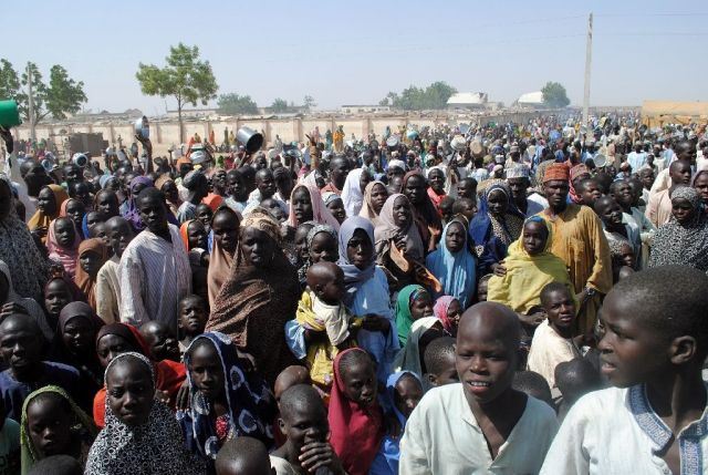 Internally Displaced Persons at Dikwa Camp, in Borno State in north-eastern Nigeria. (AFP Photo/)