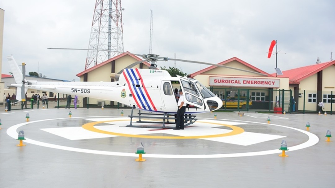Newly commissioned helipad at the Lagos State University Teaching Hospital (LASUTH), Ikeja by Governor Akinwunmi Ambode, on Thursday, August 11, 2016. PHOTO: LASG