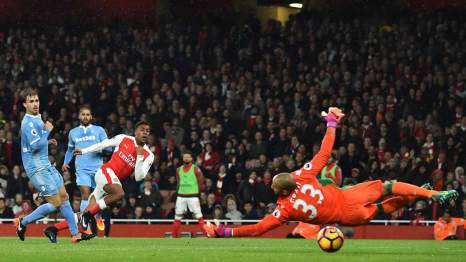 Image result for pic of iwobi's goal against stoke