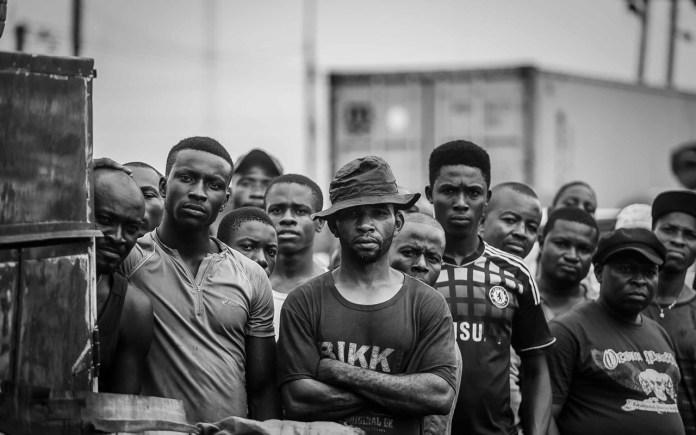 Group portrait of men in Ladipo PHOTO: Seun O