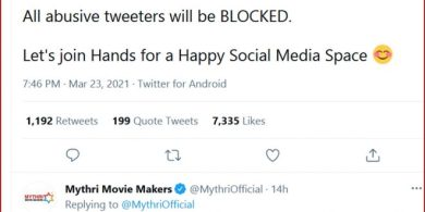 Mythri Vexed Up With Social Media Trolls