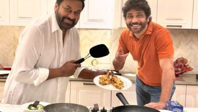 Pic Talk: Chiranjeevi Cooks A Delicious Dinner For Nagarjuna