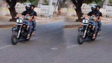 Viral Pic: Jr NTR Riding Bike With Son Bhargav Ram