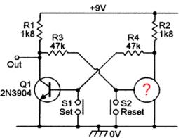 One Transistor FlipFlop