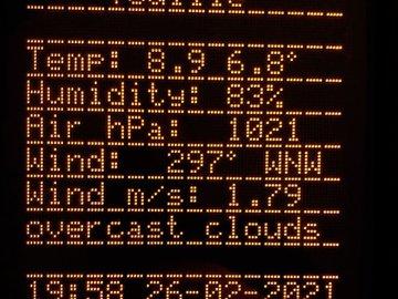 MC6205/MS6205 | ESP32  Weatherstation, NTP Clock