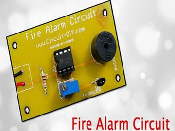 Fire Alarm Circuit using LM358
