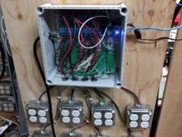 Duplex outlet testing board