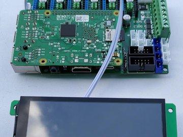 OctoPi uart 800*480 capacitive lcd for printer