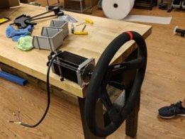 ExacT force feedback steering wheel