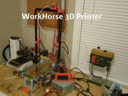 Autonomous Infinite 3D Printing: WorkHorse 3D