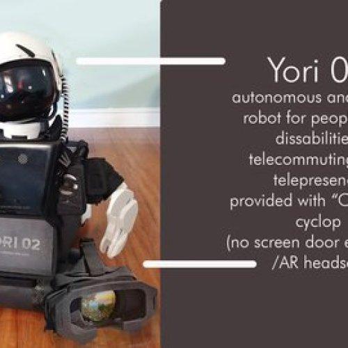 Yori 02 Avatar Robot & Cyclop VR headset.