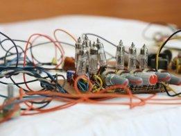 Retro-futuristic automobile control panel