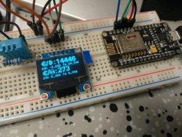 ESP8266 BTC Price ticker with OLED display