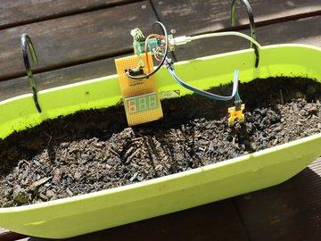 Super simple soil moisture measurement