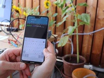 Remotely controlled plant watering