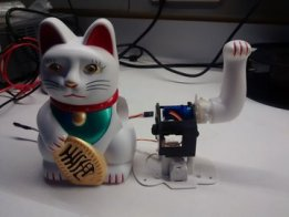 WiFi Remote Controlled Laser Rainbow Maneki-neko