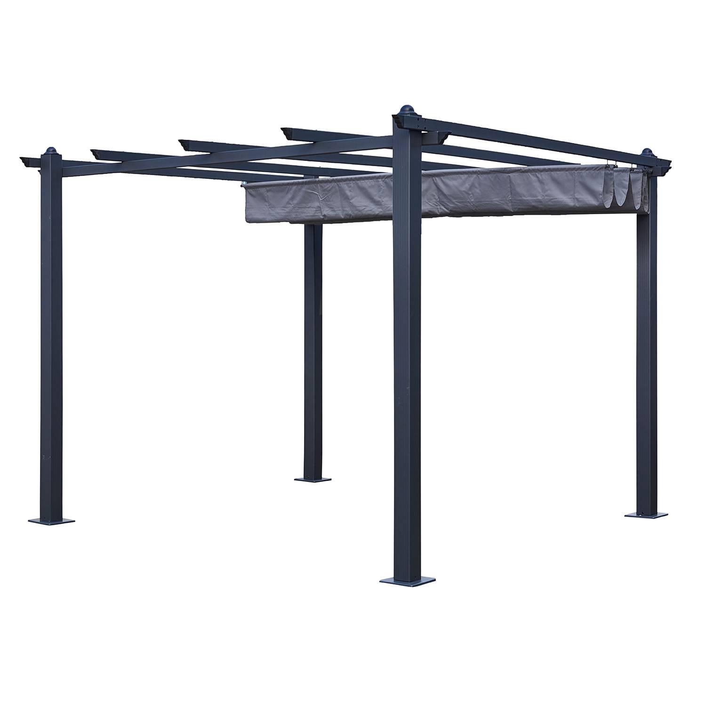 pergola autoportante 3 3m cassis grise structure aluminium