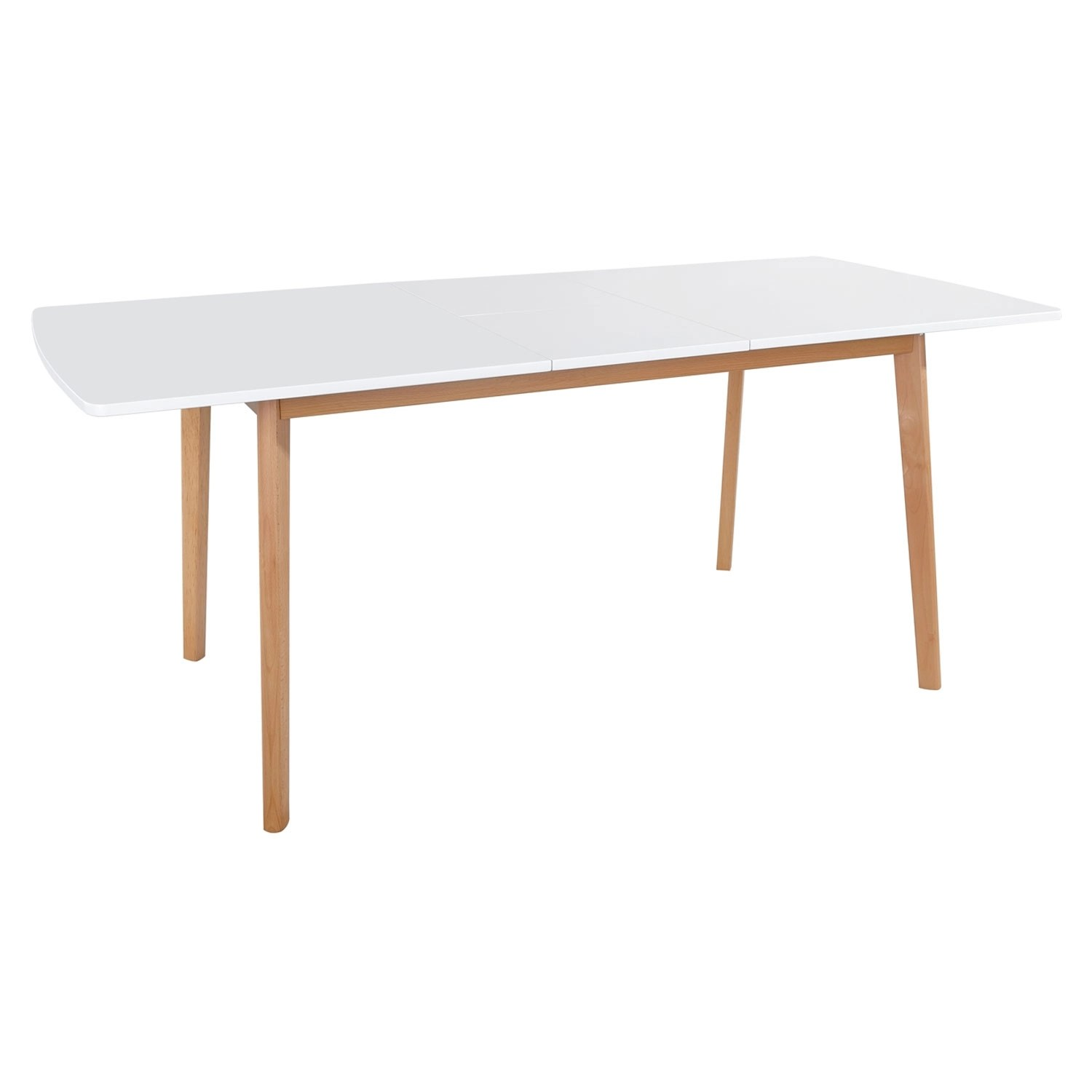 table extensible 120 160cm blanche helga