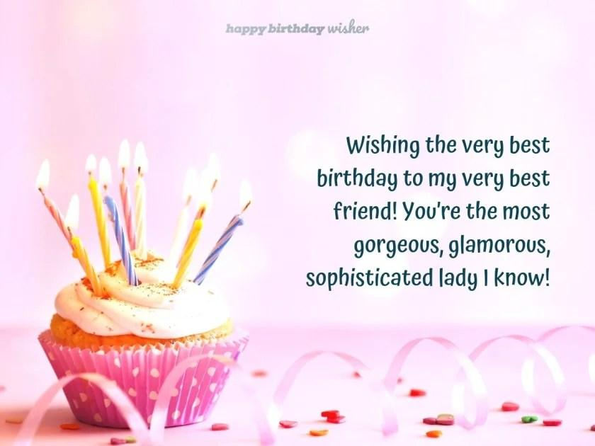 Happy Birthday To My Glamorous Best Friend Happy Birthday Wisher