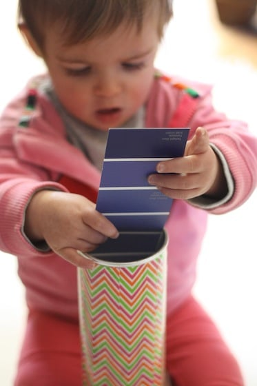 pringles can lid off for baby fine motor activity