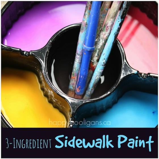 homemade sidewalk paint for kids