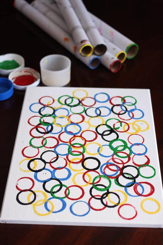 supplies for olympic rings art project