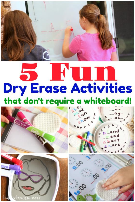 5 Fun Ways to Use Dry Erase Markers Without a Whiteboard - Happy Hooligans