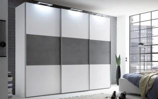 Schwebetürenschrank Includo in weiß online bei HARDECK kaufen