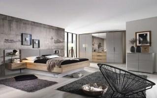 Schlafzimmer 4037 seidengrau/Eiche Sanremo hell Optik, mit ...