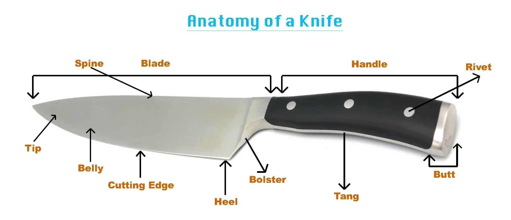 Kitchen Knife Handle Types