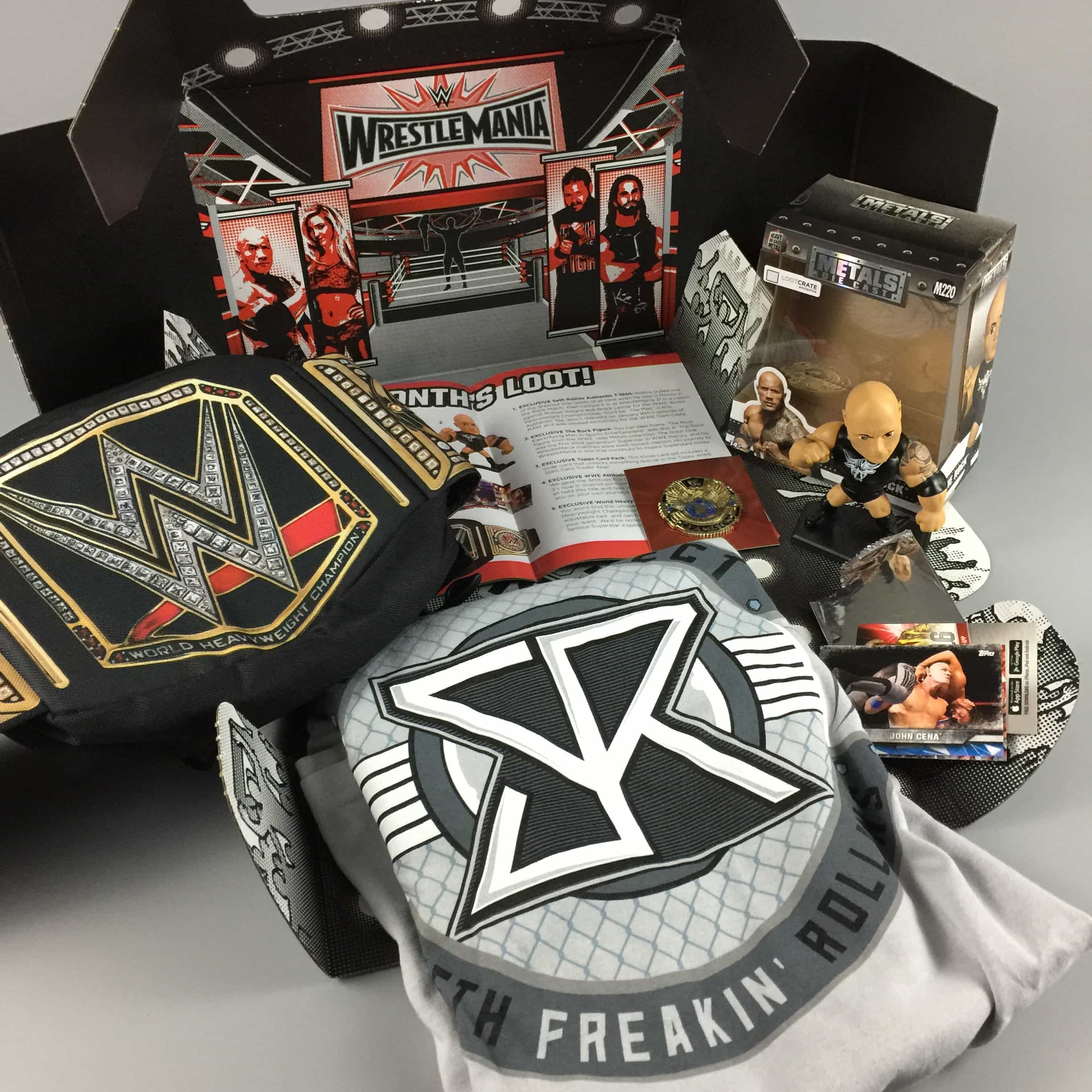 WWE Slam Crate February 2017 Review Coupons Hello Subscription