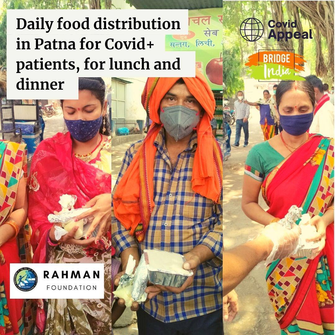 रहमानस् 30 की बेहतरीन पहल: कोविड मरीजों और साथ आए परिजनों को दे रहा है मुफ्त भोजन! 3