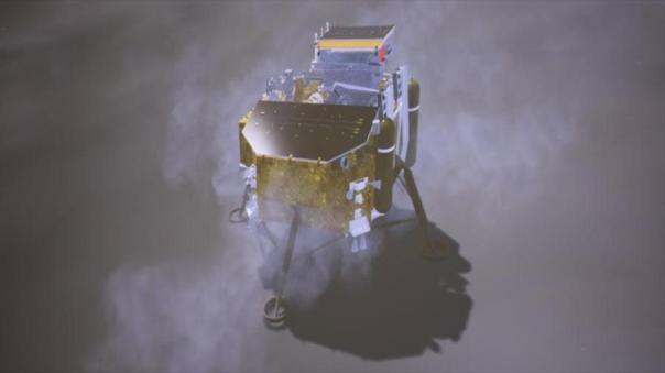 Un dibujo de la sonda china Chang'e-4.