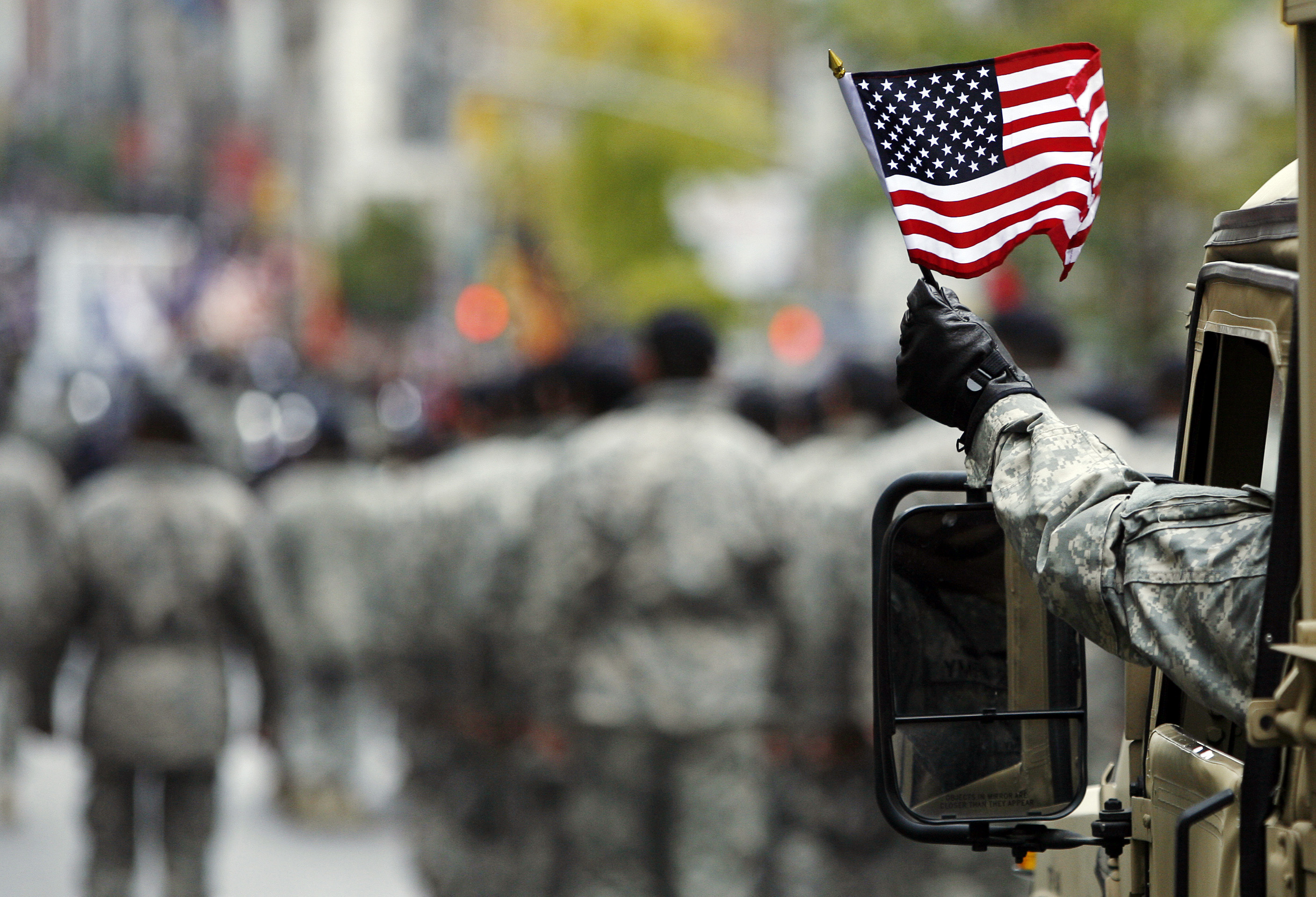 Usa Military Veterans Day Parade In Sango