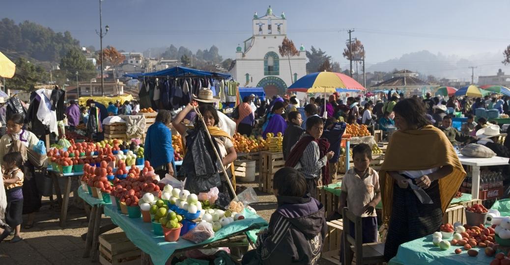 san juan chamula market, san cristobal de las casas, chiapas, mexico