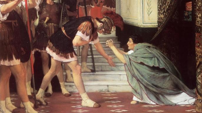 Praetorian Guard proclaiming Claudius emperor