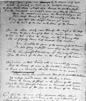 Key's handwritten draft