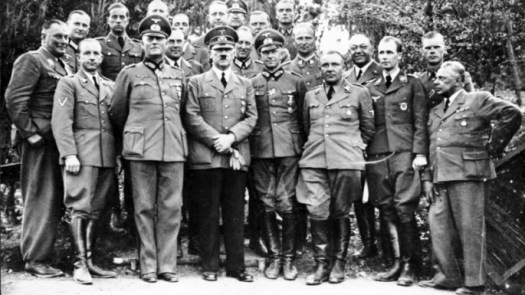 Nazi leadership, c. 1940. Theodore Morell is fourth from right. (Credit: Bundesarchiv, Bild 183-R99057 / CC-BY-SA 3.0)